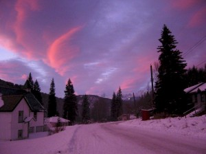 Sunset from outside our house - Dec. 10th, 05